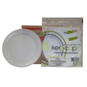 prato 21 cm raso c/ 250 kerocopo branco