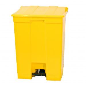 Lixeira 15L com pedal amarela