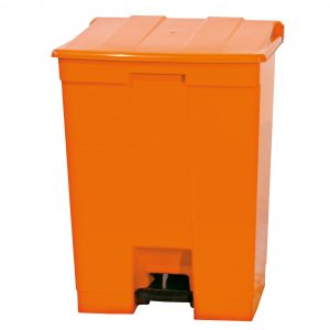 Lixeira 30L com pedal laranja